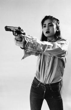 "Richard Kern :: Tamoya, from ""Guns"", / src Female Pose Reference, Pose Reference Photo, Figure Drawing Reference, Art Reference Poses, Art Poses, Drawing Poses, Anatomy Poses, Figure Poses, Poses References"
