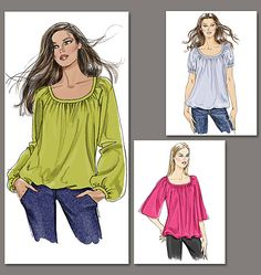 Love this style - lightweight fabric for spring/summer, heavier for winter - I could see having several versions.