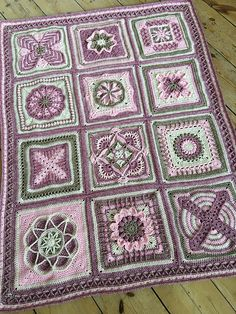 Nuts About 35 Squares CAL [Free Crochet Pattern] #crocheting