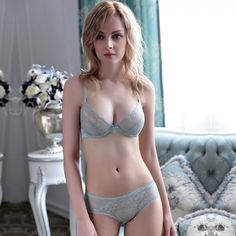 CW45679 Lace refreshing underwear transparent Bra a set