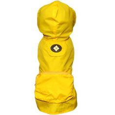Fab Dog Argyle Pocket Fold Up Dog Raincoat - Yellow