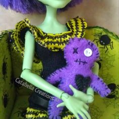 Purple Voodoo Doll for Monster High dolls