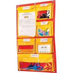 Off The Wall Storage Center - it folds up and has a carrying handle for easy transport!