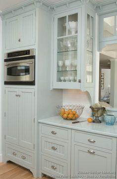 Traditional Blue Kitchen Cabinets #07 (Crown-Point.com, Kitchen-Design-Ideas.org)