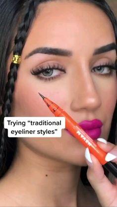 Retro Makeup, Edgy Makeup, Makeup Eye Looks, Eyeliner Looks, Creative Makeup Looks, Beautiful Eye Makeup, No Eyeliner Makeup, Cute Makeup, Simple Makeup