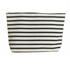 Large Monochrome Stripe Toiletry Bag
