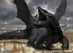 ArtStation - MTG Dragon Snacks, Yohann Schepacz OXAN STUDIO