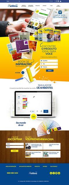 Novo #website da Tintas Killing. Criado por @gampi  #design #creative #web #digital