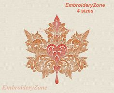 Fall autumn leaves for decoration at Thanksgiving 1. Maple leaf Machine embroidery design Hoop 7x11 6x10 5x7 Four sizes. Use design for embroidery on clothing, towels, gift pictures, pillows, kurtovich blankets, aprons for bottles, napkins, aprons for the kitchen and to create other Souvenirs. This will be a wonderful gift. You MUST have an embroidery machine and the software needed to transfer it from your computer to the machine to use this file. This listing is for the machine file only…