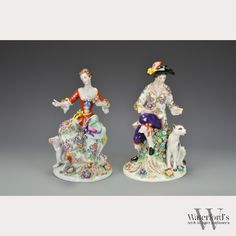 A Pair of German Sitzendorf Porcelain Statues, available at our October 25 auction