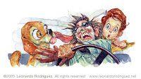 MAD MAGAZINE ( watercolor cartoons )