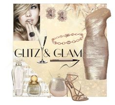 """Glitz & Glam"" by tasha-blondeambition-real ❤ liked on Polyvore featuring Kaisercraft, Halston Heritage, Dolce&Gabbana, Victoria's Secret, Riedel and fashionset"