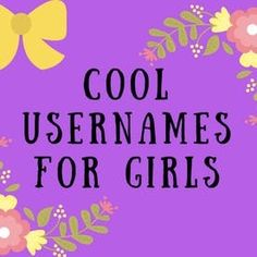 Girls, just like boys, need usernames. Girls play online games and have online accounts, all of which need an identifying and safe username. Here are some great username ideas for girls. Usernames For Tumblr, Cute Usernames For Instagram, Cool Names For Instagram, Funny Usernames, Instagram Username Ideas, Instagram Funny, Friends Instagram, Instagram Baddie, Instagram Ideas
