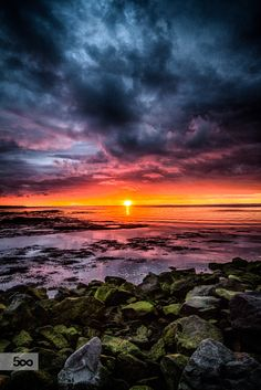 This summer here in Iceland we have had some amazing midnight sun with beautiful colors in the sky and stunning evening sunsets. This is a moody sunset I captured few days ago at the seashore in Seltjarnarnes an Icelandic township located within the Greater Reykjavík area.