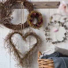 Soft catkins and an abundance of rustic pussy willow twigs make this hand-crafted wreath a favorite for all seasons. Add this wreath to your home today! Willow Wreath, Heart Wreath, Grapevine Wreath, Heart Garland, Front Door Decor, Wreaths For Front Door, Holiday Wreaths, Winter Wreaths, Outdoor Wreaths
