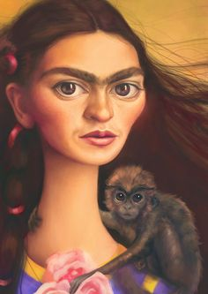 Frida Kahlo 5x7 Art Print by MudsplashStudios on Etsy, $10.00