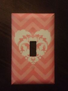 Christmas Gift Pink Chevron Light Switch Cover Cute Bedroom Accent Free Shipping   eBay