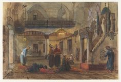 Mosque. Souk el Hommos. Byrout | Tetar van Elven, Pierre Henri Theodore | V&A Search the Collections