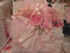 Beautiful PInk Vintage Millinery Photo Album