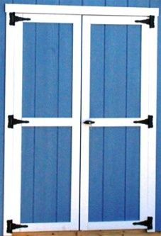 Double Shed Doors All Framed Out Garden Pinterest