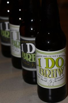 50 I DO BREW Personalized Beer Labels for Wedding Favors - Labels Designed for Glass Bottles. $75.00, via Etsy.