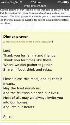 0f75fa22e35b483ee9e943aa19087f2e Dinner Prayer Prayers Jpg 640 1136