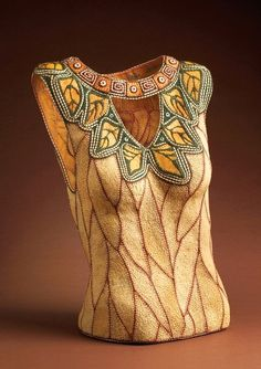 """""""Minerva""""  - Dimensions: 20""""x17""""x9"""" Date: 2004, materials: cherry bark, Alaskan yellow cedar and waxed linen, Private Collection,..."""