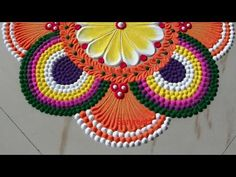 Colourful Diwali Rangoli Design by Sangeeta Henna Tattoo Designs Simple, Simple Rangoli Designs Images, Rangoli Designs Latest, Rangoli Designs Flower, Small Rangoli Design, Rangoli Ideas, Rangoli Designs With Dots, Flower Rangoli, Beautiful Rangoli Designs