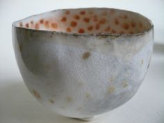 Pinched porcelain bowl