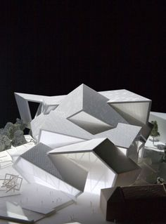 Model for Malmo Concert Hall Competition - Studio Daniel Libeskind design, model fabricated by Radii Inc.: