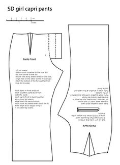 photo: a pattern for sd bjd pants This photo was uploaded by hollyava