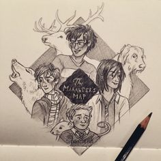 We solemnly swear that we are up to no good ✨  Marauders doodle :)