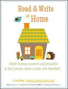 A packet of resources to share with parents to help them create fun literacy routines at home.