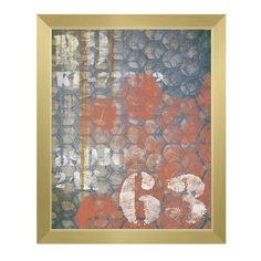 Click Wall Art Urban 63 Hex Framed Graphic Art on Canvas