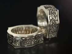 Men's silver ring celtic pattern by Frangue.