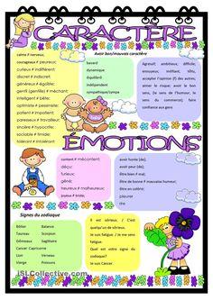 Émotions et caractère