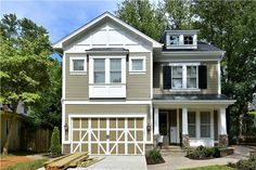 Built in the Bethesda area, the exterior features siding and stone.