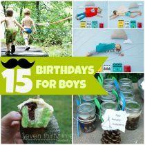 Birthday party ideas for boys!