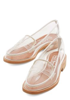 Proud and Clear Loafer. As much as youd love to shout from the rooftops how much you love your new footwear, youll let these Cache loafers by Jeffrey Campbell do all the talking. #white #modcloth