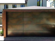 Axolotl bronze garage door.