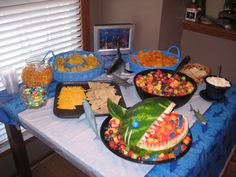 A shark themed birthday party!