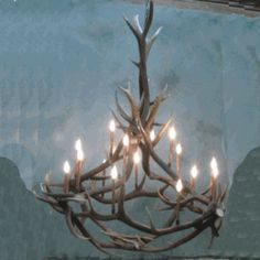 """We carry this Peak """"Big Nelson"""" Elk Antler Chandelier - 16 Light, and other fine American-made rustic furniture and décor. Browse our rustic furniture catalogs now.  Free Delivery to 48 states."""