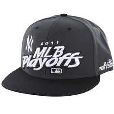'47 Brand New York Yankees Charcoal 2011 MLB Playoff Locker Room Snapback Adjustable Hat
