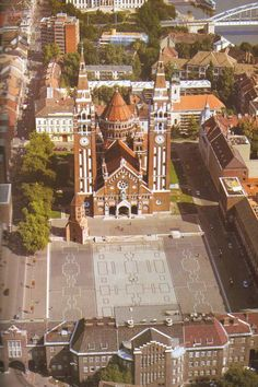 Szeged - the Cathedral. Hungary