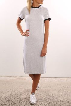 In A Vision Dress Grey Marle Navy