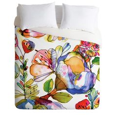 DENY Designs CayenaBlanca Blossom Pastel Duvet Cover Collection Pastel Designs, Flower Designs, Flower Canvas Art, Flower Art, Home Accessories, Throw Pillows, Buy Art, Flowers, House Design