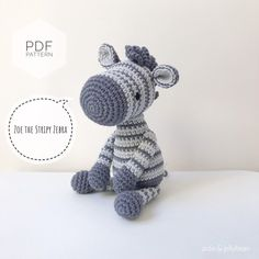 "Excited to share this item from my #etsy shop: AMIGURUMI PATTERN/ tutorial (English) Amigurumi Zebra ""Zoe the Stripy Zebra"" pdf - US terminology Crochet Zebra, Crochet Toys, Half Double Crochet, Single Crochet, Amigurumi Patterns, Crochet Patterns, Crochet Chain, Crochet Abbreviations, Types Of Yarn"