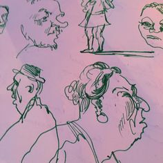 Charlotte Street Hotel #soho #illustrator #illustration #drawing #characters #penandink #studiospilsbury #reportage