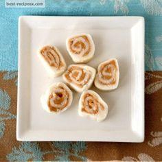 Potato & Peanut Butter Pinwheels