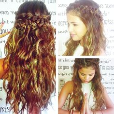 Tutorial: Selena Gomez wrap around braid Chic Hairstyles, Pretty Hairstyles, Wedding Hairstyles, Graduation Hairstyles, Braided Hairstyles, Heatless Hairstyles, Quinceanera Hairstyles, Holiday Hairstyles, Homecoming Hairstyles